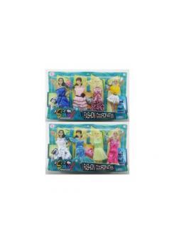Одежда и аксессуары для куклы высотой 29 см 2 шт в ассортименте (4 наряда, обувь, 2 сумочки)