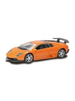 Машинка металлическая Uni-Fortune RMZ City 1:64 Lamborghini Murcielago LP670-4 без механизмов, 2 цвета (оранжевый/желтый), 7,26х3,19х2,00 см