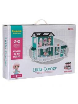 Игровой набор ABtoys Модульный домик (собери сам), 8 секций. Мини-куколки с питомцами на кухне, в ванной, в столовой, в наборе с аксессуарами