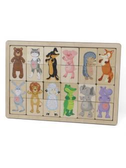 Игра развивающая деревянная Зоопарк