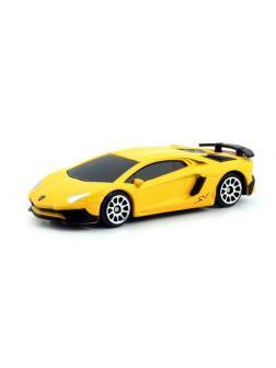 Машинка металлическая Uni-Fortune RMZ City 1:64 Lamborghini Aventador LP 750-4 Superveloce, без механизмов, цвет матовый желтый