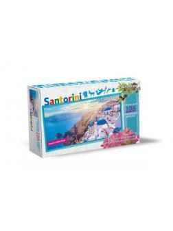 Пазл Нескучные игры Travel Collection о. Санторини 126 деталей, фигурный, деревянный