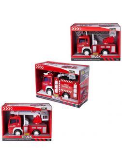 Машинка Junfa Пожарная, 3 вида в ассортименте, размер коробки 24х10,5х17см