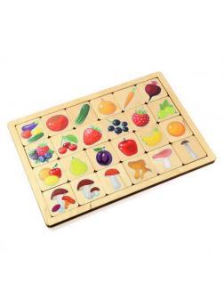 Игра развивающая деревянная Овощи-Фрукты-Ягоды-Грибы