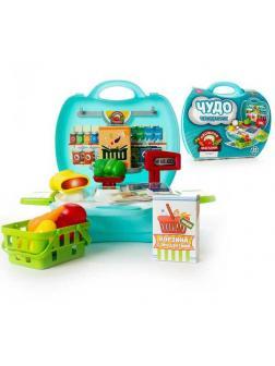 Игровой набор Abtoys Чудо-чемоданчик Овощной магазин 23 предмета