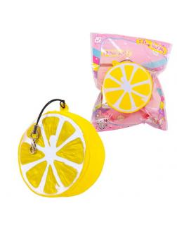 Игрушка-антистресс Junfa Мялка-сквиши Долька лимона, 6см.