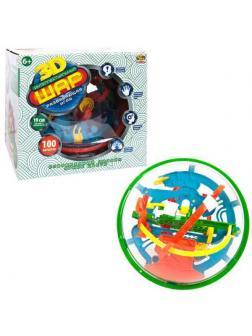 Интеллектуальный шар 3D, 100 барьеров, диаметр лабиринта 19 см