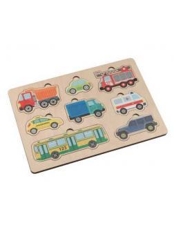 Игра развивающая деревянная Автомобили (30х21см)