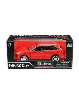 Машинка металлическая Uni-Fortune RMZ City 1:32 Porsche Cayenne Turbo, инерционная, красный матовый цвет