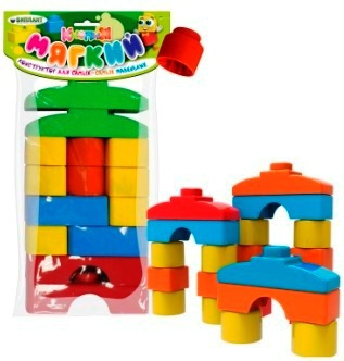 Конструктор мягкий для малышей     ( в пакете) 14 деталей