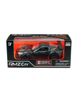 Машинка металлическая Uni-Fortune RMZ City 1:32 Chevrolet Corvette C6.R,инерционная, серый матовый цвет, 16.5 x 7.5 x 7см