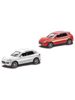 Машинка металлическая Uni-Fortune RMZ City 1:43 Porsche Cayenne Turbo , без механизмов, 2 цвета (красный/белый)