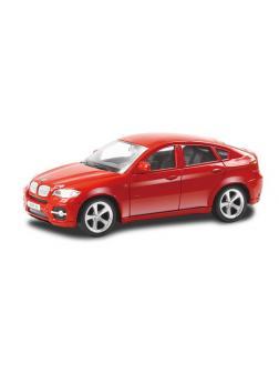 Машинка металлическая Uni-Fortune RMZ City 1:43 BMW X6 , без механизмов, цвет красный, 12,5 x 5,6 x 5,9 см