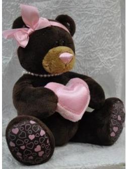 Медведь девочка Milk с сердцем 25 см