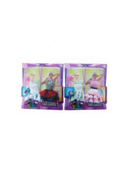 Одежды и аксессуары для куклы высотой 29 см 2 шт в ассортименте (2 платья, обувь, сумочка, расческа)
