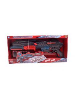 Мегабластер Бластер красно-черный с 10 мягкими пулями. в коробке PT-00933 / ABtoys