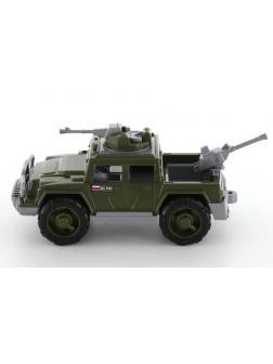 Автомобиль военный пикап Защитник с 2-мя пулемётами