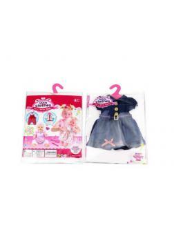 Одежда для кукол: платье (синий цвет), 25,5x36x1см