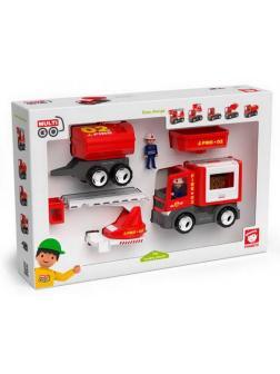 Спецтехника: пожарная машина, игровой набор, 8 предметов, пластмасса