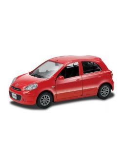 Машинка металлическая Uni-Fortune RMZ City 1:32 NISSAN MARCH, Цвет Красный