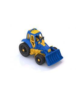 Трактор с грейдером 30*16,5*17,5 см