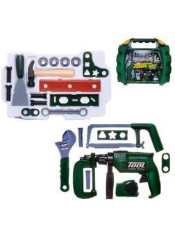Игровой набор ABtoys Помогаю Папе Инструменты в чемодане 22 предмета