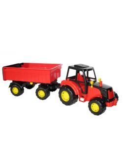 Трактор с прицепом 1 Мастер 43х13х13,5 см.