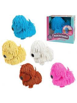 Интерактивная игрушка ABtoys Макаронка Собака музыкальная, ходит, 5 цветов