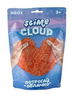 Слайм Slime Cloud Потрогай облачко Рассветные облака с ароматом персика, 200 г