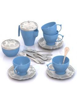Набор посуды Чайный сервиз Волшебная Хозяюшка (12 предметов в сетке) 57*42*30 см