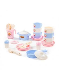 Набор детской посуды Хозяюшка на 6 персон (V5) (38 элементов) (в сеточке)