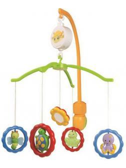 Музыкальная игрушка Canpol Babies Карусель Мобиль Животные с зеркалами