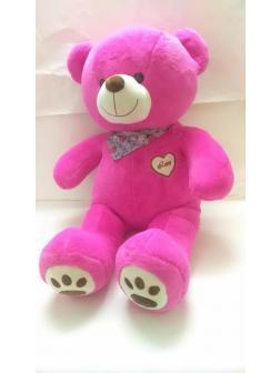 Мягкая игрушка Медведь плюшевый хагс короткошерстный малиновый 90 см