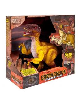 Игрушка интерактивная Junfa Динозавр Тираннозавр на батарейках, 23см