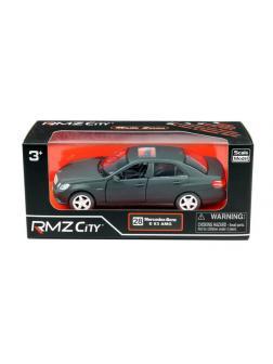 Машинка металлическая Uni-Fortune RMZ City 1:32 Mercedes Benz E63 AMG, инерционная, черный матовый цвет