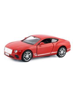 Машинка металлическая Uni-Fortune RMZ City 1:32 The Bentley Continental GT 2018 (цвет красный)