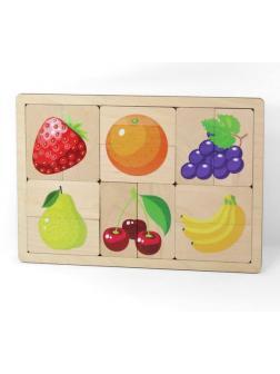 Игра развивающая деревянная Фрукты, ягоды