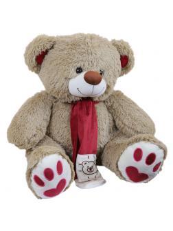 Мягкая игрушка Медведь плюшевый светло-коричневый 60 см