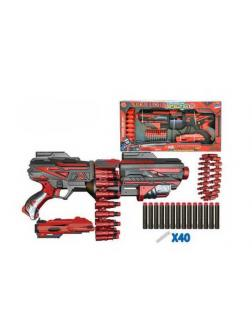 Бластер с аксессуарами и мягкими снарядами 40 шт FJ015 / Junfa