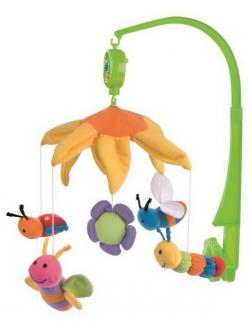 Музыкальная игрушка Canpol Babies Карусель Мобиль Пчелки с плюшевыми животными