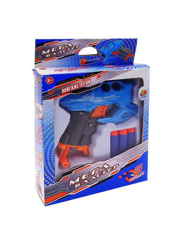 Мегабластер Бластер электромеханический с 3 мягкими пулями PT-01108 / ABtoys