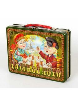 Лото деревянное. Русское лото в жестяном чемоданчике. Посиделки
