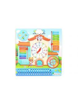 Обучающая доска Мастер Игрушек Календарь-часы Кошкин дом 28х28 см