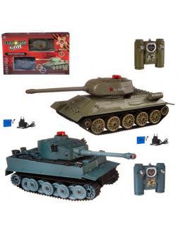 Танковый бой на радиоуправлении, в наборе: 2 танка Т-34 и &