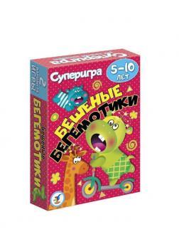 Игра настольная карточная Бешенные бегемотики. 5-10 лет