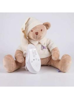 Мягкая игрушка Drema BabyDou Мишка бежевый с белым и розовым шумом