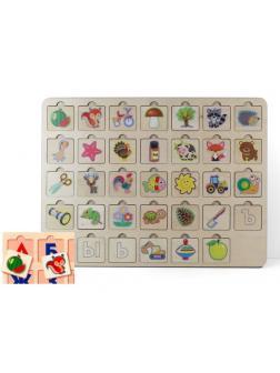 Игра развивающая деревянная Азбука 2