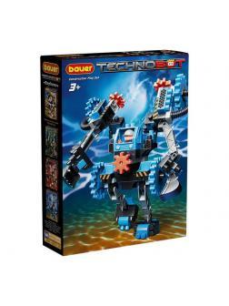 Конструктор Bauer Technobot с большим роботом и пилотом серый, голубой, черный