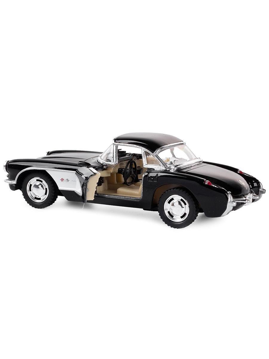 Машинка металлическая Kinsmart 1:34 «1957 Chevrolet Corvette» KT5316D инерционная / Черный