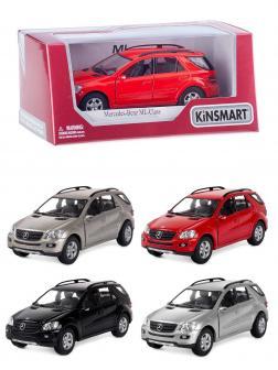 Машинка металлическая Kinsmart 1:36 «Mercedes-Benz ML-class» KT5309W, инерционная в коробке / Микс